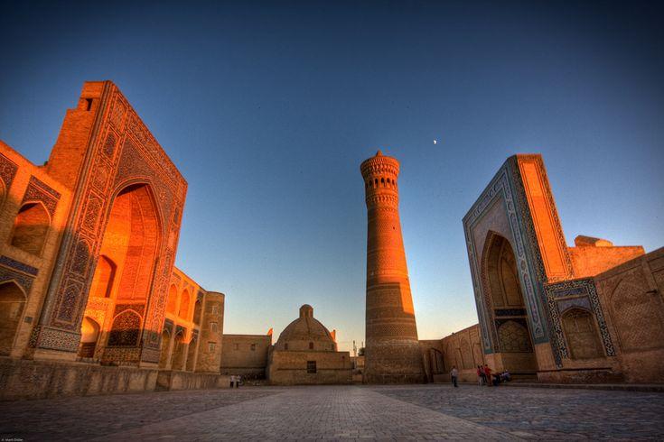 sunset over Bukhara, Uzbekistan.