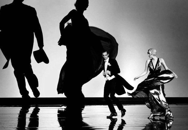 Steven Meisel для Vogue Italia. Фотосессия в стиле Фреда Астера и Джинджер Роджерс.