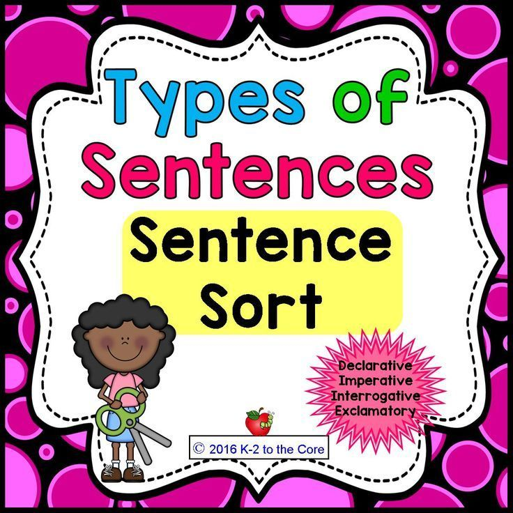 SENTENCE SORT:  What kind of sentence is it? How should this sentence be punctuated? These concepts are practiced as your students punctuate and sort sentences into categories: Declarative, Imperative, Interrogative, and Exclamatory. This product is one component of a bundle.