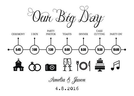 The 25+ best Wedding timeline template ideas on Pinterest