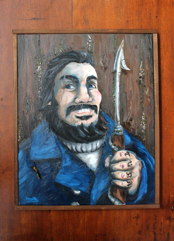 The Harpooner by Maite Urzua, via Behance