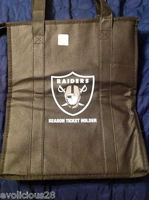 Oakland Raiders Season Ticket Holder 2013 Black Insulated Tote Bag   eBay