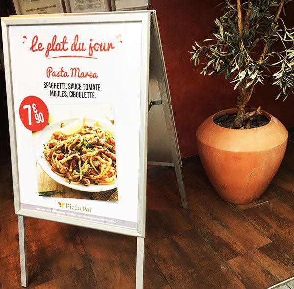 Affichage devanture restaurant - #Chevalet de #trottoir