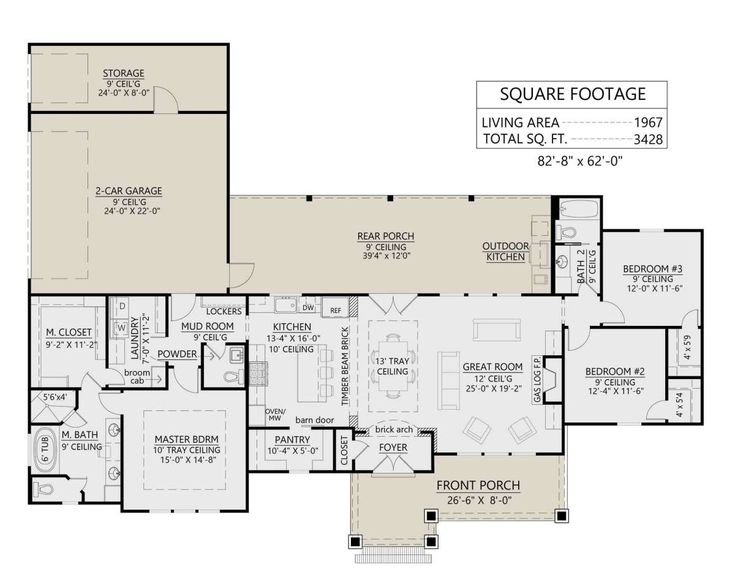 Modern Farmhouse Plan: 1,967 Square Feet, 3 Bedroo…