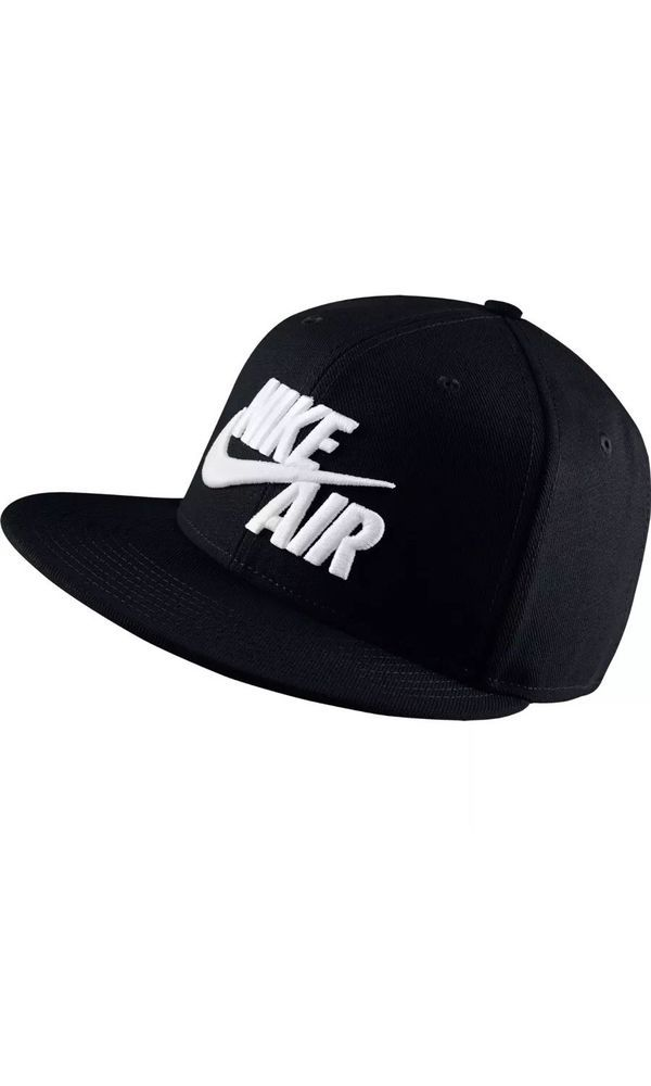 2bc412489538 Nike Sportswear Air True Snapback Hat Black New NSW