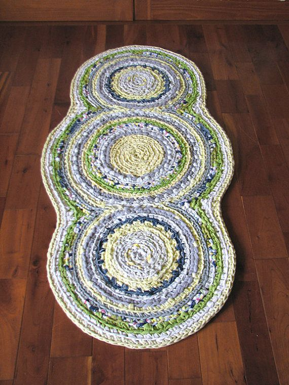 Triple Disc Crocheted Rag Rug - Your Choice of Colors