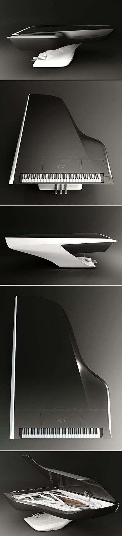 Futuristic Grand Piano by Peugeot Design Lab (Future Tech Mom)