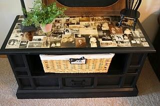 trash to treasure, Love the picture table idea !