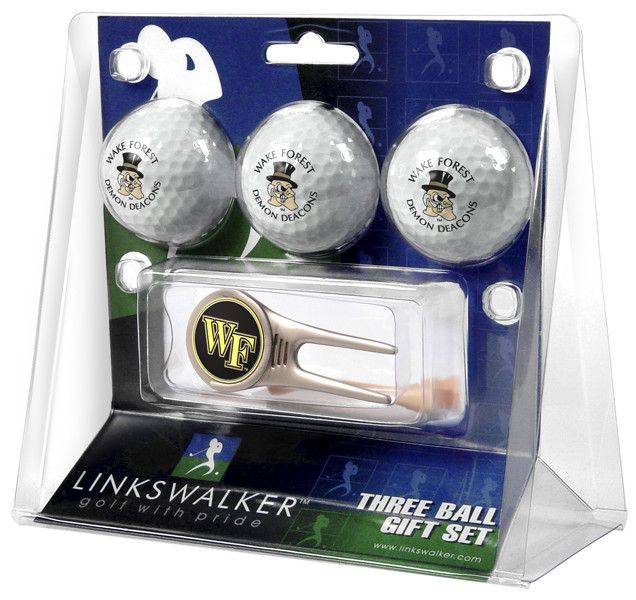 Wake Forest Demon Deacons - Cap Tool 3 Ball Gift Pack