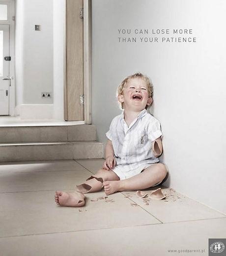 Une publicité contre la maltraitance des enfants  They need us to speak out for them.