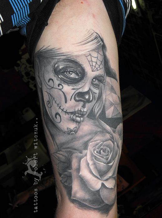 21 best sugar skull tattoo designs black and white images on pinterest skull tattoo design. Black Bedroom Furniture Sets. Home Design Ideas