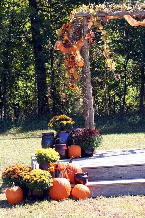 46 Outdoor Fall Wedding Arches | HappyWedd.com-------Wedding decorations