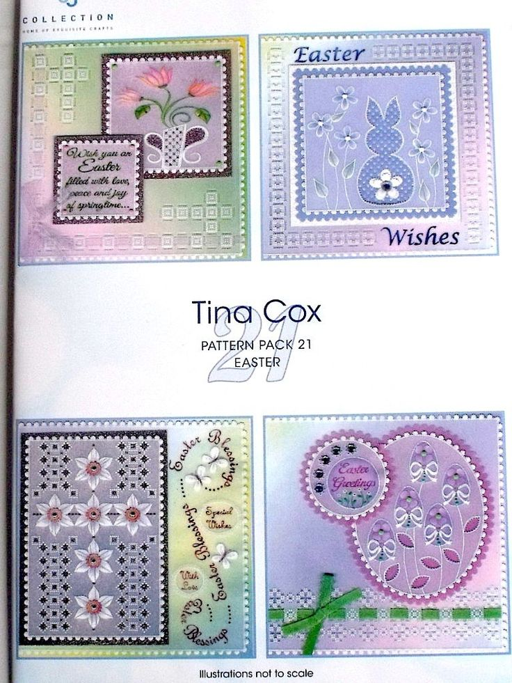 PATTERN PACK 21 - EASTER BY TINA COX    Lovely new four pattern pack from Tina Cox  with plenty of Easter themes, rabbits, easter eggs, spring flowers and religious themes.