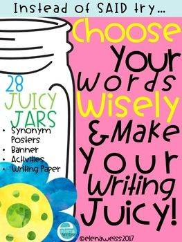 Synonym Posters! Country chic theme! Make is easier for your students to substitute commonly used words with something juicier! 28 synonym posters are included! said, good, like, fun, happy, bad, sad, big, small, pretty, nice, scared, smart, great, help, know, make, fast, go, stop, want, slow, funny, very, walked, looked, a lot and mad.