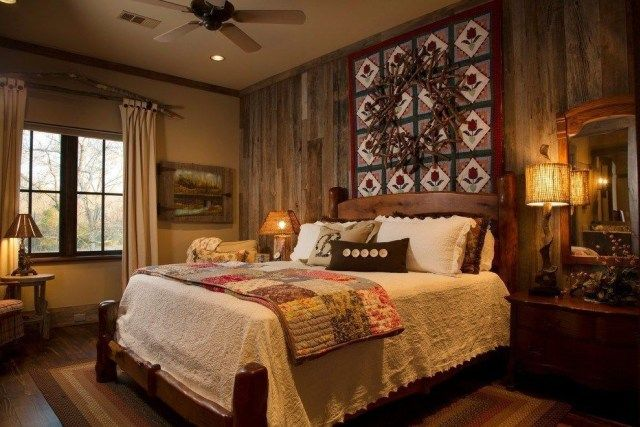 51 Awesome Rustic Bedroom Furniture Ideas To Get The Farmhouse Charm Godiygo Com In 2020 Rustic Bedroom Furniture Tuscan Style Bedrooms Rustic Style Bedroom