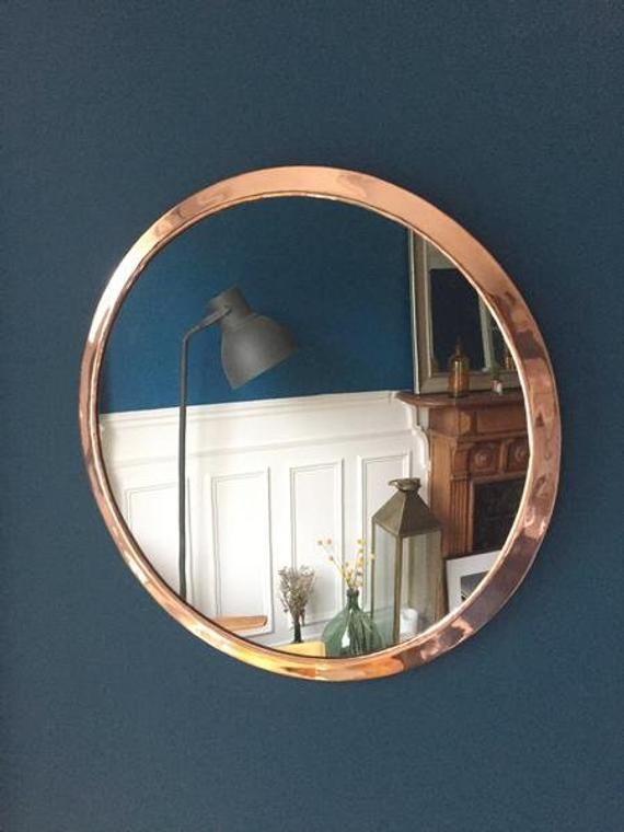 Copper Mirror To Hang On The Wall Large Round Mirror For A Minimalist Decoration Copper Mirror Large Round Mirror Mirror
