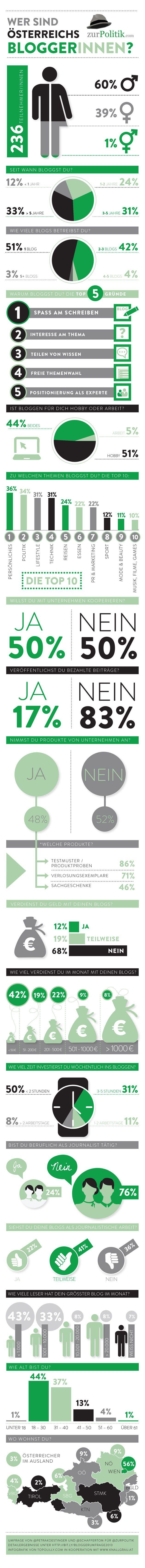 Infografik: Österreichs Blogger 2013 via @zurpolitik