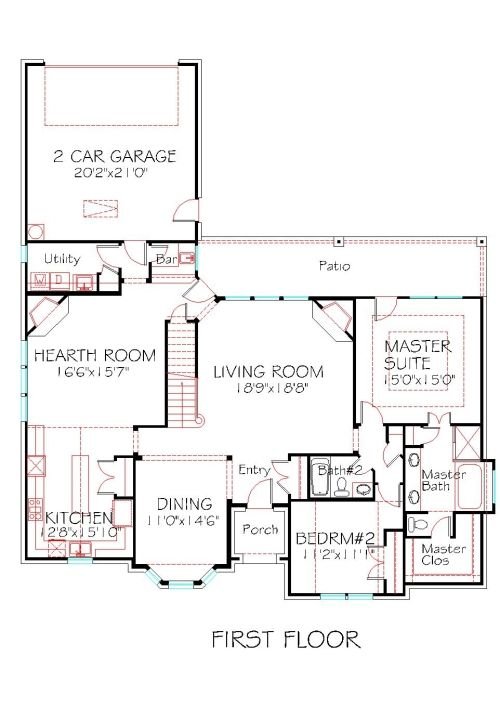 17 best images about 2000 sqft to 2500 sqft house plans on for 2 car deep garage