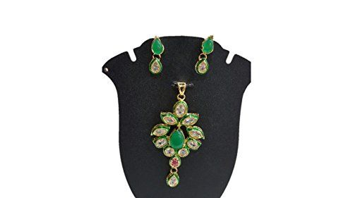 Green Stone Bollywood Style Gold Plated Kundan Pendant Ne... https://www.amazon.com/dp/B01N19TBVR/ref=cm_sw_r_pi_dp_x_L0RMybTQ8DGK9