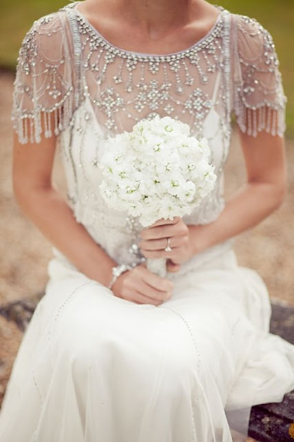 Beaded wedding shoulder cover up