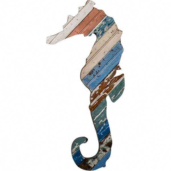 Recycled Seahorse Wall Art Beach Decor Coastal Home Decor