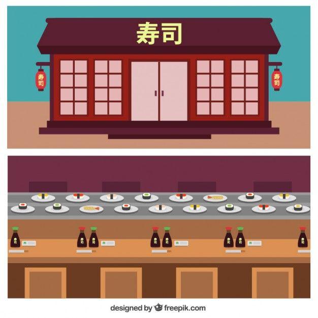 Chinese Restaurant Facade In Flat Design Free Vector Freepik Freevector Freefood Freemenu Freedesign Fre Restaurant Facade Chinese Restaurant Design