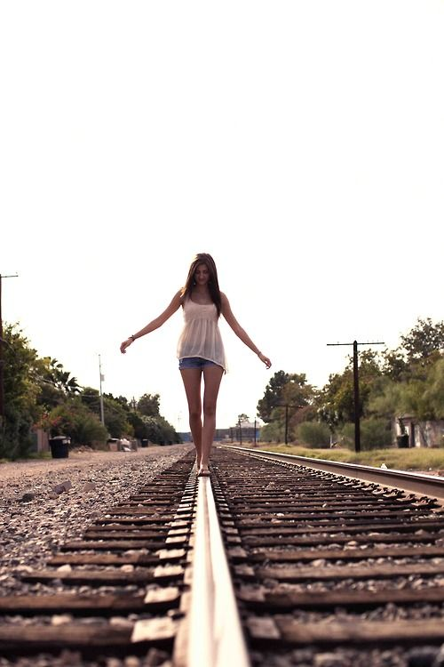 railroad tracks. klmentine photography. >>>>>> I loved doing this as a kid.