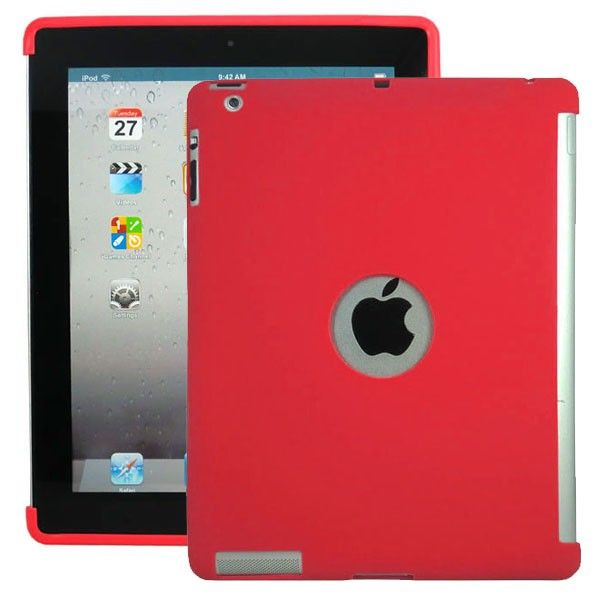 Soft Shell - Smart Cut (Punainen) iPad 3 & 4 Silikonisuojus