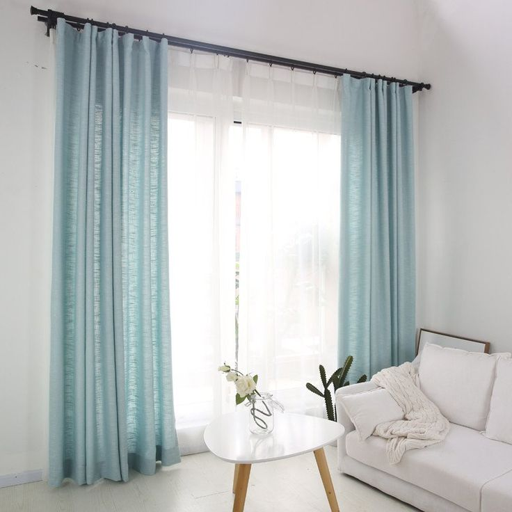 The chalk blue curlap curtains are light and soft. The blue burlap drape is perfect for your bedroom