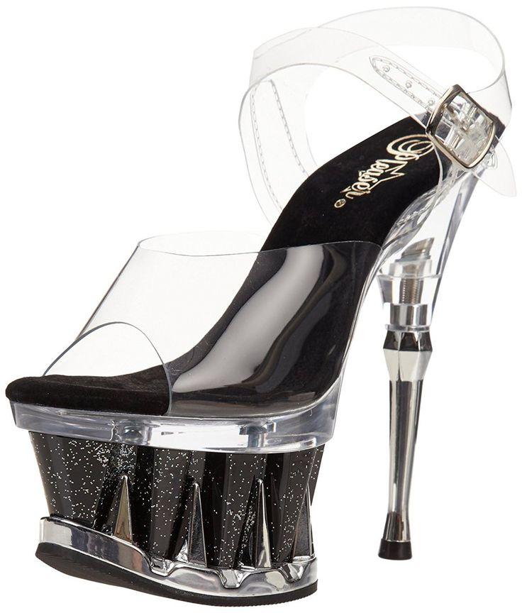 """Обувь для Pole Dance Go Go Стриптиза Фитнес-бикини Силиконовые прозрачные стрипы-босоножки SPIKY-608MG-CB с блёстками на платформе Бренд: Pleaser - США Высота каблука: 16,5 см Высота платформы: 7 см Актуальная цена, выбор модели, размера, купить в интернет-магазине """"Золушка"""": http://www.zolushka777.com.ua/products/spiky-608mg_cbg Отправляем (по Украине и в другие страны) через 2 недели с момента осуществления нами заказа у производителя. Заказ у производителя делаем каждый вторник пилон…"""