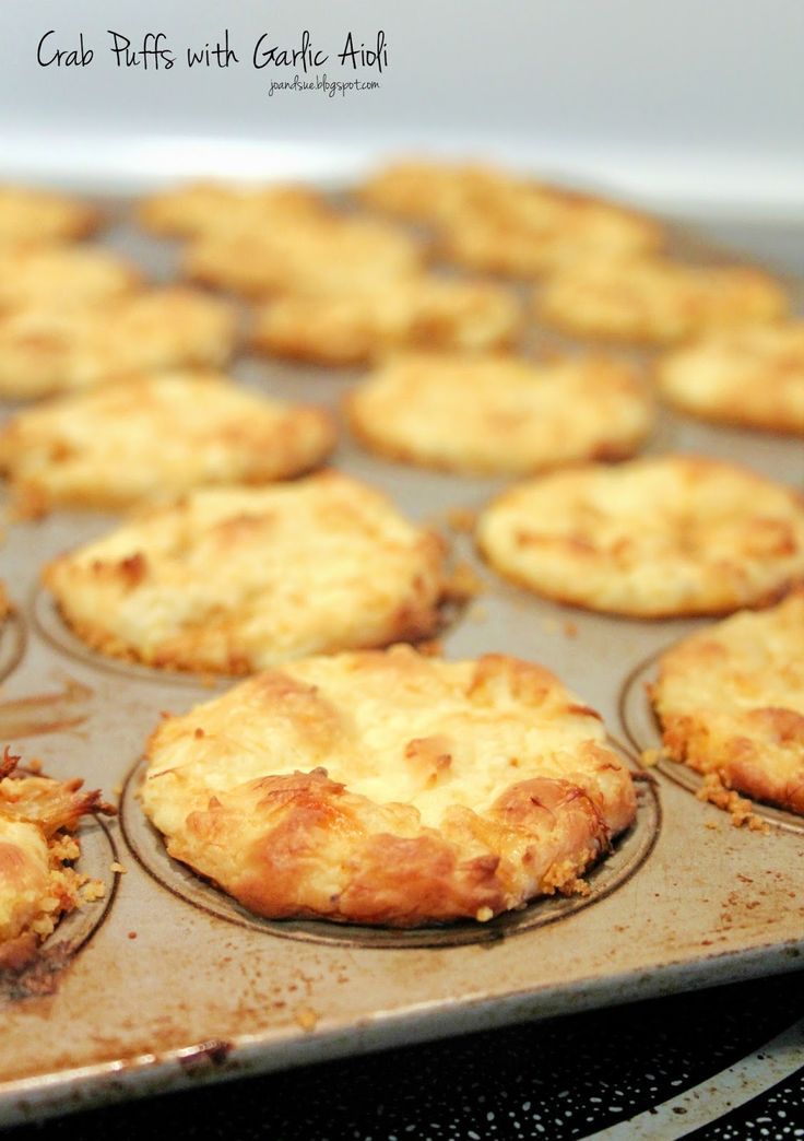 Jo and Sue: Easy Baked Crab Puffs with Garlic Aioli