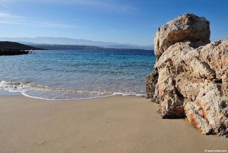 Macherida beach - located 14 km northeast of Chania, a tiny, secluded beach with deep blue waters. #Greece #Crete #Chania #Terrabook