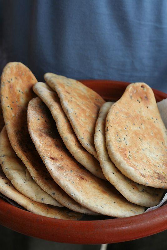 Glutenvrij volkoren flatbread -
