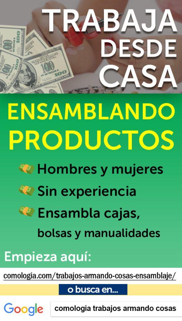 Trabajos Armando Cosas Desde Casa Bolsas Cajas Que No Son