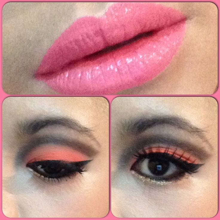 Cut the cr...ease: orange and pink