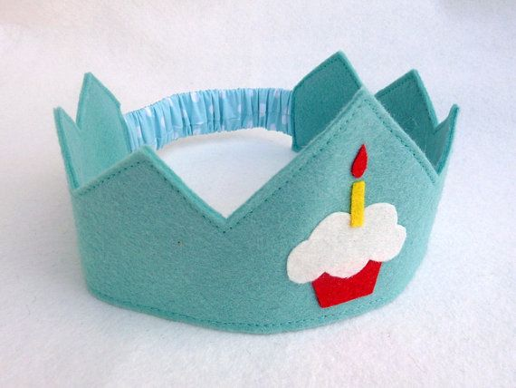 Birthday Crown Felt Crown Cupcake Birthday Cake 24 colours to choose from