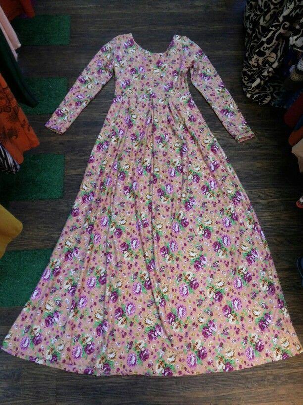 Gamis motif bunga2 bahan wedges