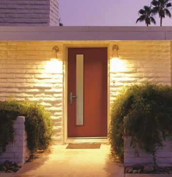 Mid2Mod -- A Trendspotting Guide to Interior and Exterior DOORS - midcentury - front doors - Therma-Tru Pulse with Linea lite