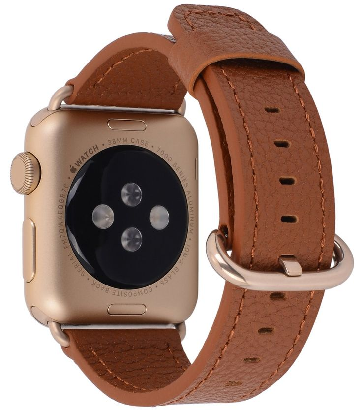 Amazon.com: Apple Watch Band 38mm Women - PEAK ZHANG Light Brown Genuine Leather Replacement Wrist Strap with Gold Adapter and Buckle for iWatch Series 3/ 2/ 1/Edition/Sport: Cell Phones & Accessories | @giftryapp