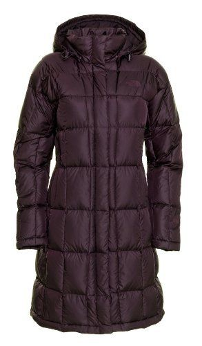 The North Face Women's Metropolis Parka (XL, Baroque Purple) by The North Face. $255.97. Brushed chin-guard ning. Insulation: 600-fill down. Body (Light Colors): Plain-weave polyester with DWR finish. Insulated, adjustable snap-off hood. Body (Dark Colors): Plain-weave nylon. Resting at the knee THE NORTH FACE womens Metropolis long down parka delivers exceptional thermal warmth thanks to its quilted 600fill insulation. Snapfront closures disguise a fulllength f...