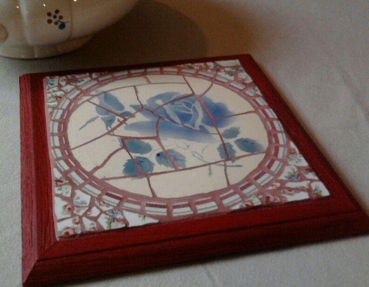 Dessous-de-plat en mosaïque(picassiette)