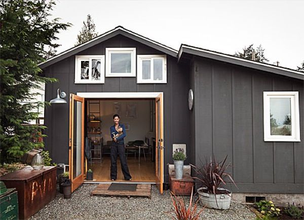 Tiny Cottage in Seattle: 250 Sq. Ft. that's Modern and Rustic