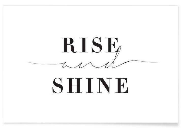 Rise and Shine als Premium Poster door Honeymoon Hotel   JUNIQE