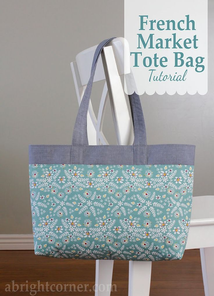 French Market Tote Bag tutorial