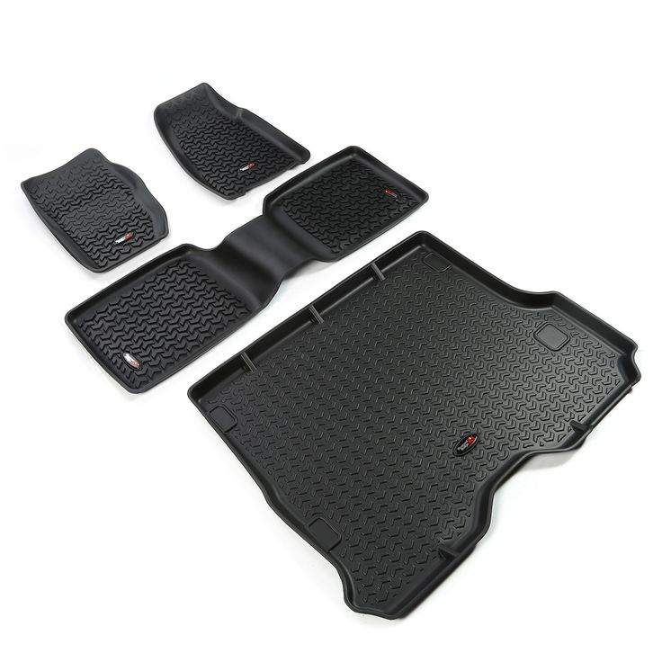 Floor Liners, Kit, Black; 84-01 Jeep Cherokee XJ