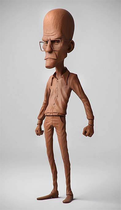 """Is this Walter from Breaking Bad??? I'd totally get this for my desk. I'm like """"Ni**a im Heisenberg!"""" (why is ninja censored there? ehh, lol)  Pixologic ZBrush Gallery: GuzzSoares Sketchbook"""
