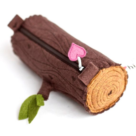 Pencil Pouch Log by hitree on Etsy, $34.00 https://www.etsy.com/listing/186602077/pencil-pouch-log?ref=listing-7