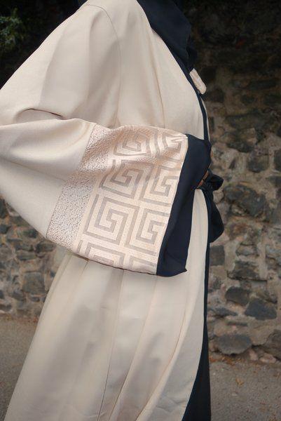Cream Open Abaya