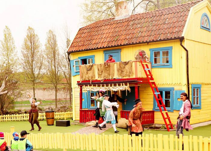 Parque temático de Pippi Calzaslargas en Suecia