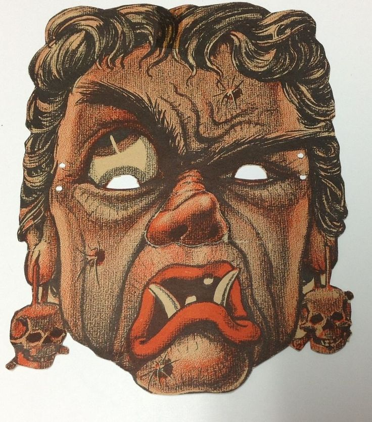 vintage 1950s halloween witch punch out mask decoration hag - Vintage Halloween Witches